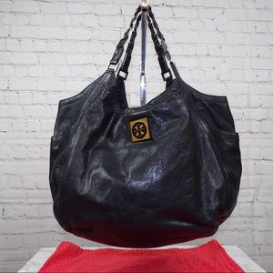 Tory Burch Round slouchy leather tote